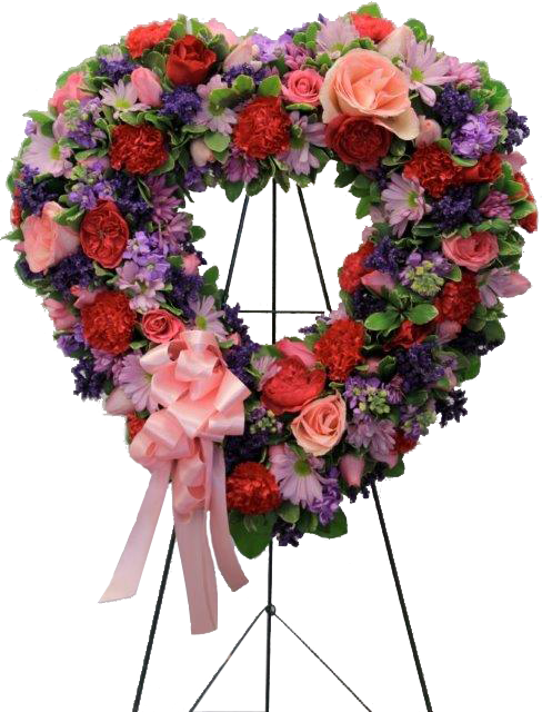 Heart Easel Arrangement